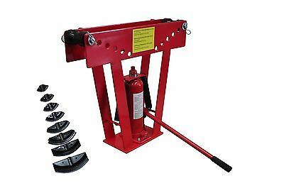 #bNEW  16 Ton Hydraulic Tube Rod Pipe Bender with 8 Dies