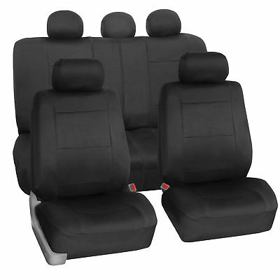 Car Seat Cover Neoprene Waterproof Pet Proof Full Set Cover Black