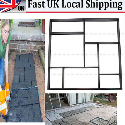 50 x 50 Driveway Paving Brick Patio Concrete Slabs Path Garden Walk Maker Mould