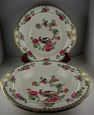 Two Winkle & Co Whieldon Ware Pheasant (Smooth) Open Vegetable Serving Bowls