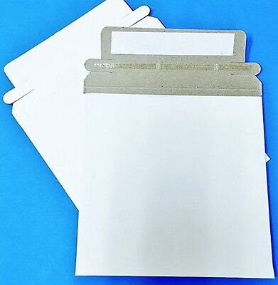 "50 New 6 x 6 "" Rigid CD DVD Photo White Cardboard Envelope Mailers Flat"