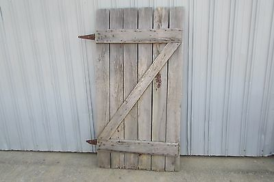 Antique Vintage Primitive Weathered Solid Wood Barn Door #S104