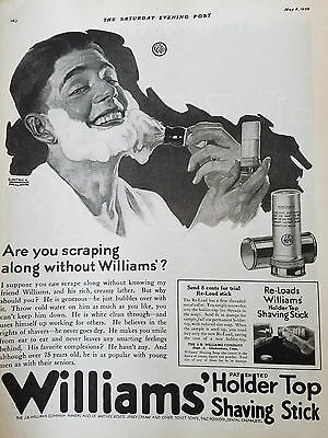 Other Collectible Ads Helpful 1920s Williams Shaving Cream Brush Eberhardt Color Art Vintage Ad Collectibles