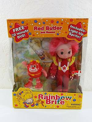 Amazing Rainbow Brite RED BUTLER Doll & Light Up Romeo + DVD