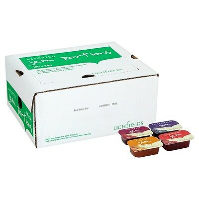 Lichfields Assorted Jam Portions 100 x 20g Portions Retail, Office, Hotels