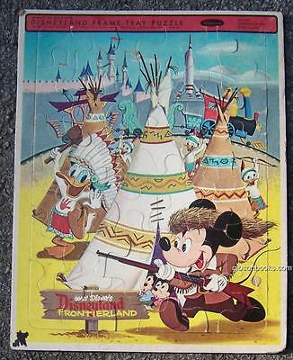 Vintage Mickey Mouse and Friends Disneyland Frontierland Frame Tray Puzzle