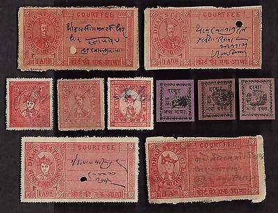 10  DHAR (INDIAN STATE) Stamps