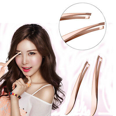 New Stainless Steel Hair Removal Eyebrow Tweezer Beauty Makeup Tools Cosmetic