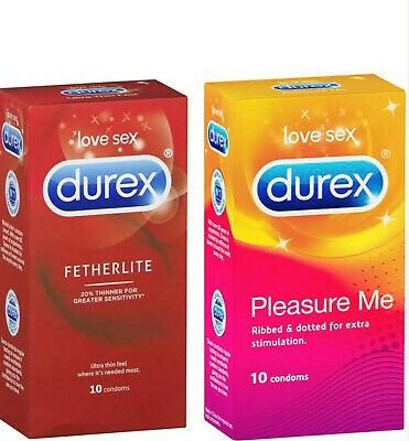 Durex Fetherlite Ultra Thin Feel & Pleasure Me Ribbed & Dotted Bulk 24 Condoms