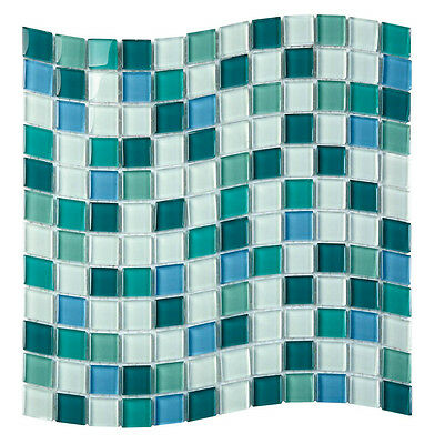 Glass crystal mosaic Designer Wave for kitchen bathroom splash back