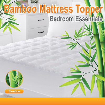 Luxury 1000GSM Bamboo Ball Fibre Pillowtop Mattress Topper/Protector-S/KS/D/Q/K