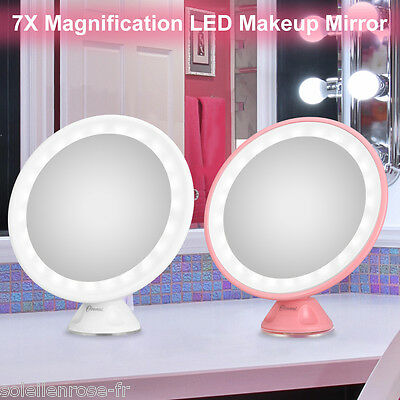 Beauty Wall Mounted Rotated 7x Magnifying 24 LED lights Makeup Cosmetic Mirror