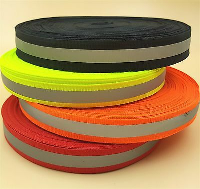 50M New Reflective Tape Strip Sew-On Silver Fabric Trim Safty Vest 10mm 0.39""