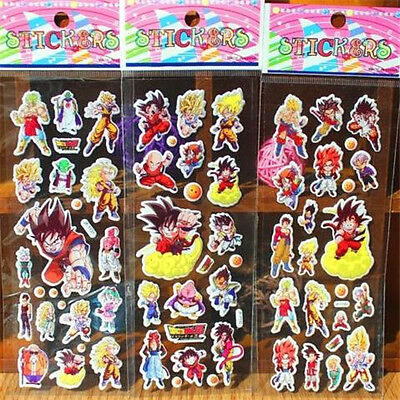 3PCs Puffy Japan Anime Dragon Ball Z Stickers for Dragon Ball Z Fans ~3PCs~♫