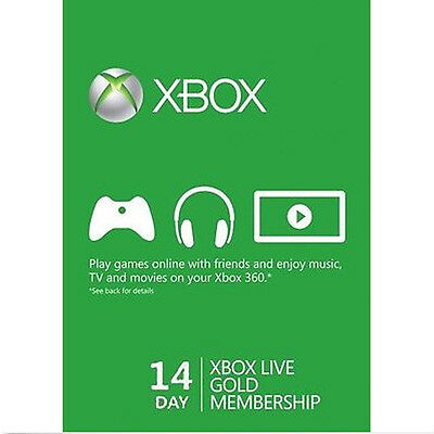 Xbox One Live Gold Membership 14 Days Trial Code INSTANT DISPATCH