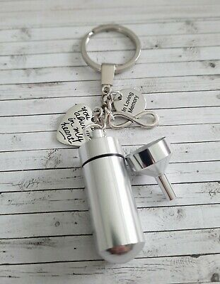 Always in my heart, in loving memory Urn ashes key ring