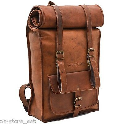 Johnny Fly Co, Leather Rolltop Backpack Bag