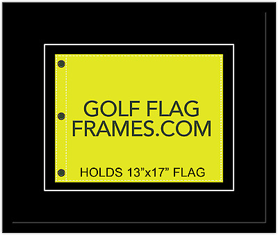 20x24 Black Flag Frame, blk-004, Floated, fits 13x17 Masters Flag, Flag not incl