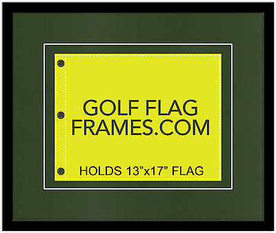 20x24 Black Flag Frame, blk-004,Floated, fits 13x17 Masters Flag,Flag not incl