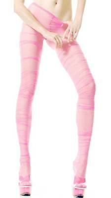 Ruched Fit Sheer Tights Baby Pink Grunge Look Closeout Pricing 770