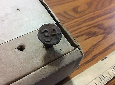 Dated Railroad Nail from 1934
