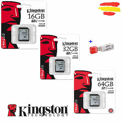 Tarjeta Memoria Kingston Sd Clase 10 Original Sdhc 16 32 64 16Gb 32Gb 64Gb Gb
