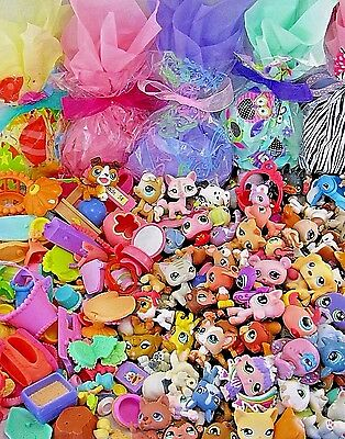 Littlest Pet Shop Mixed Lot 10 Pcs Surprise Random LPS ~ 5 PETS & 5 ACCESSORY