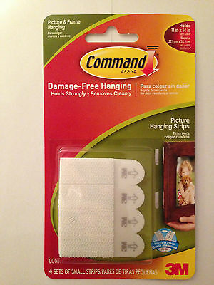 COMMAND 17202 Small Picture/Poster/Canvas Hanging Strips Pk4 Holds up to 1.8kg