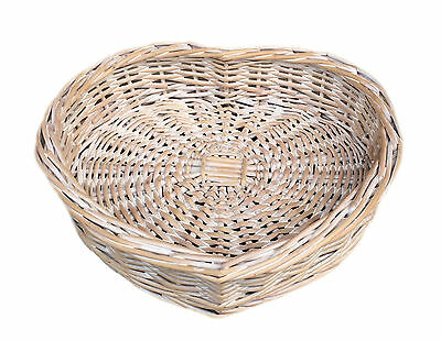 Heart Shaped Wicker  Basket Large Small Hamper Home Gift  Storage Wedding Willow