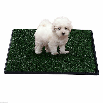 PawHut Dog Toilet Pet Mat Tray 2 Layers Indoor Puppy Potty Trainer Artificial