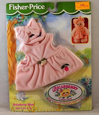 1998 Fisher Price Briarberry Wear Collection Pink Dress & Bow