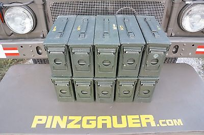 AMMO Can Box US ARMY Military Surplus M19A1 Metal Box Lid Seal 30 Cal Set of 10