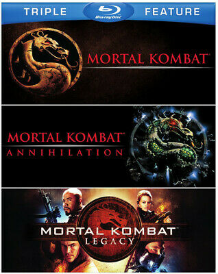 Mortal Kombat / Mortal Kombat 2 / Mortal Kombat: Legacy [New Blu-ray] 3 Pack