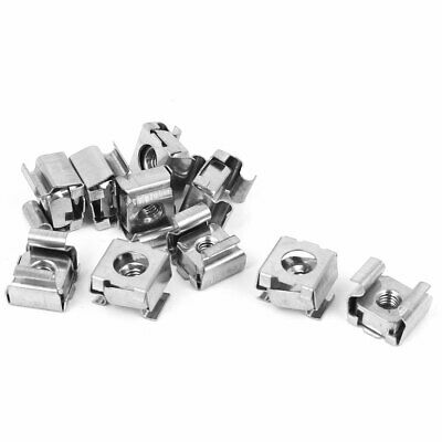 10 Pcs M4 x 0.7mm 304 Stainless Steel Cage Floating Nuts for Server Rack Cabinet
