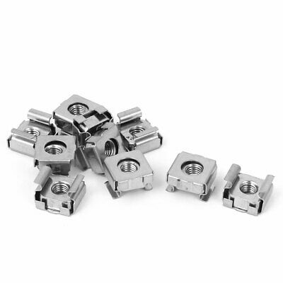 M5 x 0.8mm Pitch Cabinet Metal Nut Cage Floating Nuts Silver Tone 10 Pcs