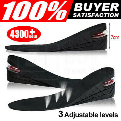 Shoes Insoles Air Cushion Height Increase Heel Gel Inserts Taller Lifts Pad AU