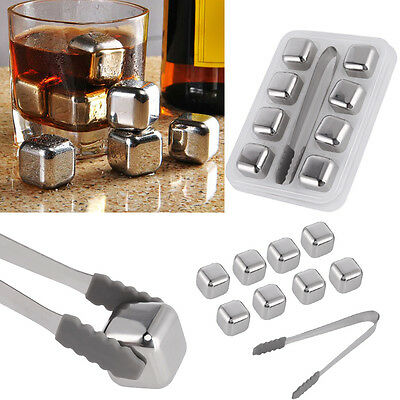 8PCS Whisky Ice Stones Drinks Cooler Cubes Whiskey Scotch on The Rocks Granite