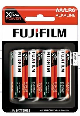 NEW Fujifilm AA LR6 Alkaline 1.5V Xtra Power Non Rechargeable Batteries - 4 Pack