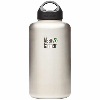 Klean Kanteen - Wide 1900ml/64oz Brush Stainless - Drink Bottle - FREE Delivery!