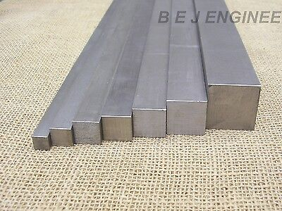 Bright Mild Steel Square Bar EN3B - Various Sizes - 50mm to 1000mm long 080A15