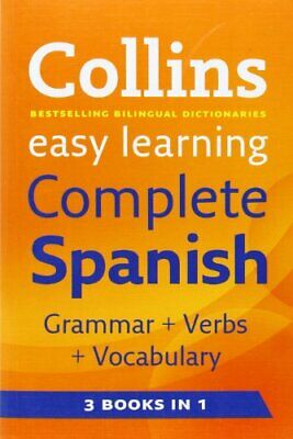 Easy Learning Complete Spanish Grammar, Ver... by Collins Dictionaries Paperback