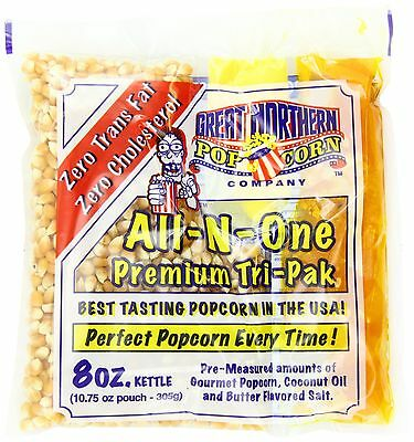 Great Northern Popcorn Premium 8 Ounce Popcorn Portion Pack of 24 New