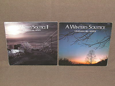 A WINTER'S SOLSTICE VOLUME 1 & 2 LP RECORD ALBUMS LOT COLLECTION Windham Hill
