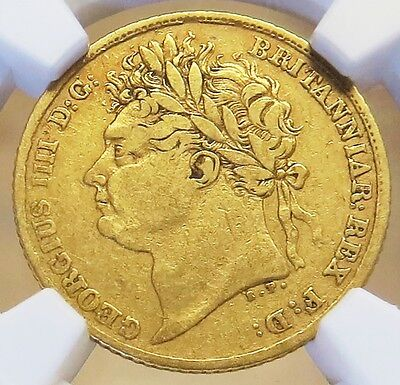 1824 Gold Great Britain 1/2 Sovereign King George Iv Coin Ngc Very Fine 20