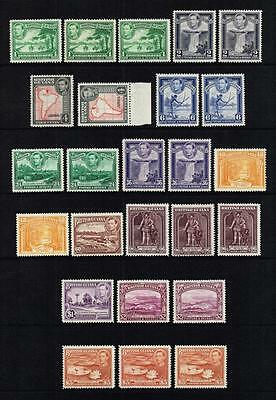 British Guiana 1938-52 King George VI set to $3, MH (SG#308/319b)