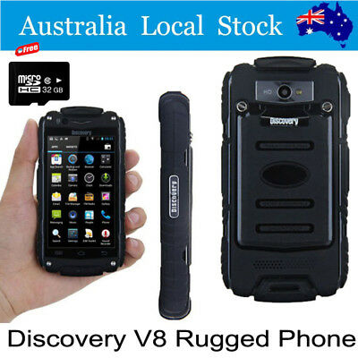 Rugged Phone 32G Discovery V8 Smartphone Rugged Mobile Phones MTK6582 Android BK