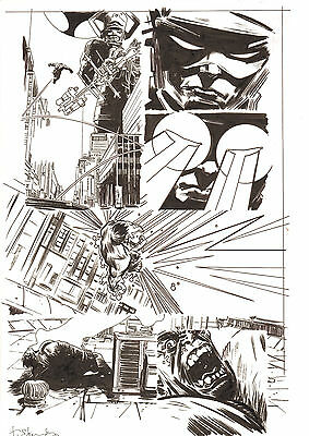 Bullet Points #5 p.14 - Hulk vs. Galactus - 2007 Signed art by Tommy Lee Edwards