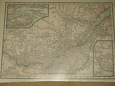 1915 Original MAP QUEBEC  CANADA   101 Years Old