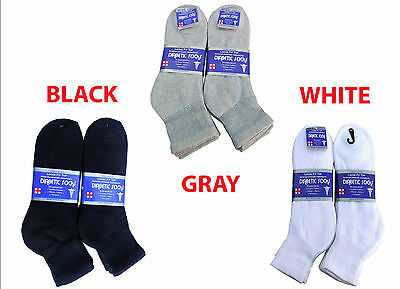 3, 6, 12 Pairs Diabetic ANKLE circulatory Socks Health Men's Cotton ALL SIZE