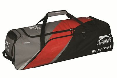 Slazenger V Series 5 Star Wheelie Holdall Cricket Sports Luggage Team Kit Bag